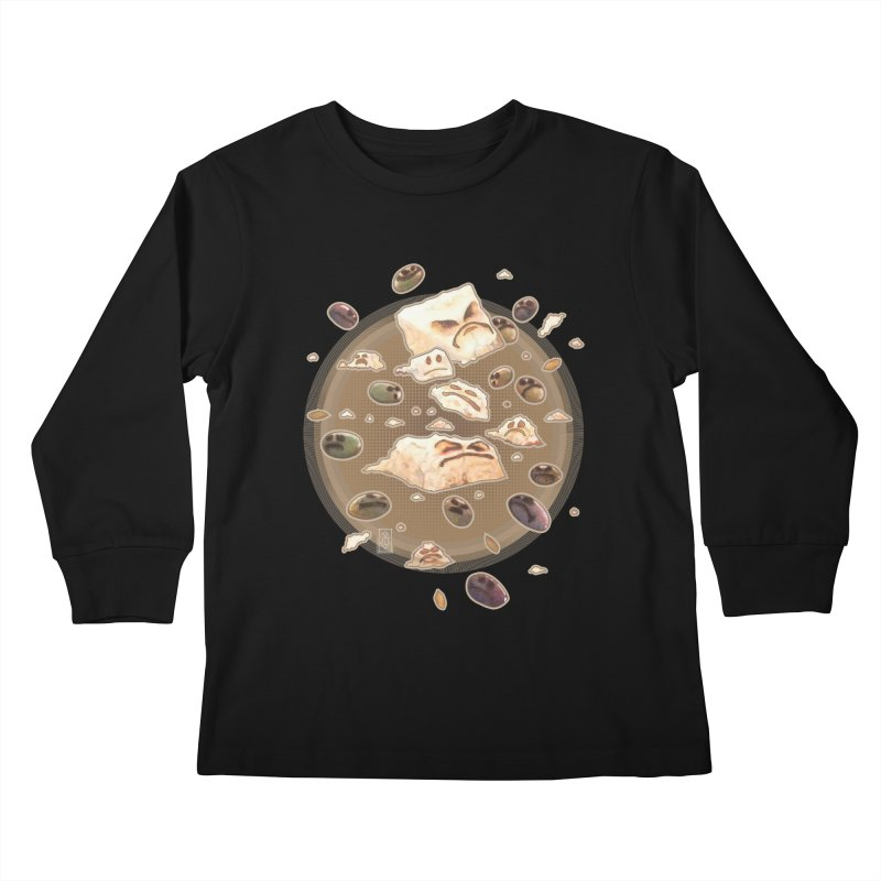 Angry Feta and Olives Kids Longsleeve T-Shirt by freshoteric's Artist Shop