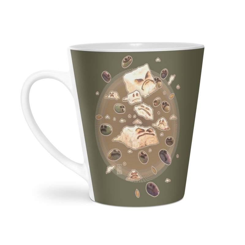 Angry Feta and Olives Accessories Latte Mug by freshoteric's Artist Shop