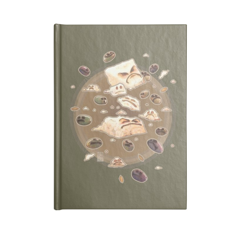 Angry Feta and Olives Accessories Lined Journal Notebook by freshoteric's Artist Shop