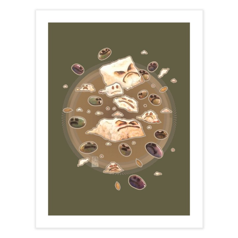 Angry Feta and Olives Home Fine Art Print by freshoteric's Artist Shop