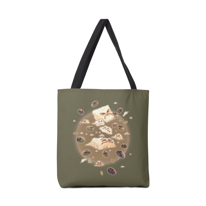 Angry Feta and Olives Accessories Bag by freshoteric's Artist Shop