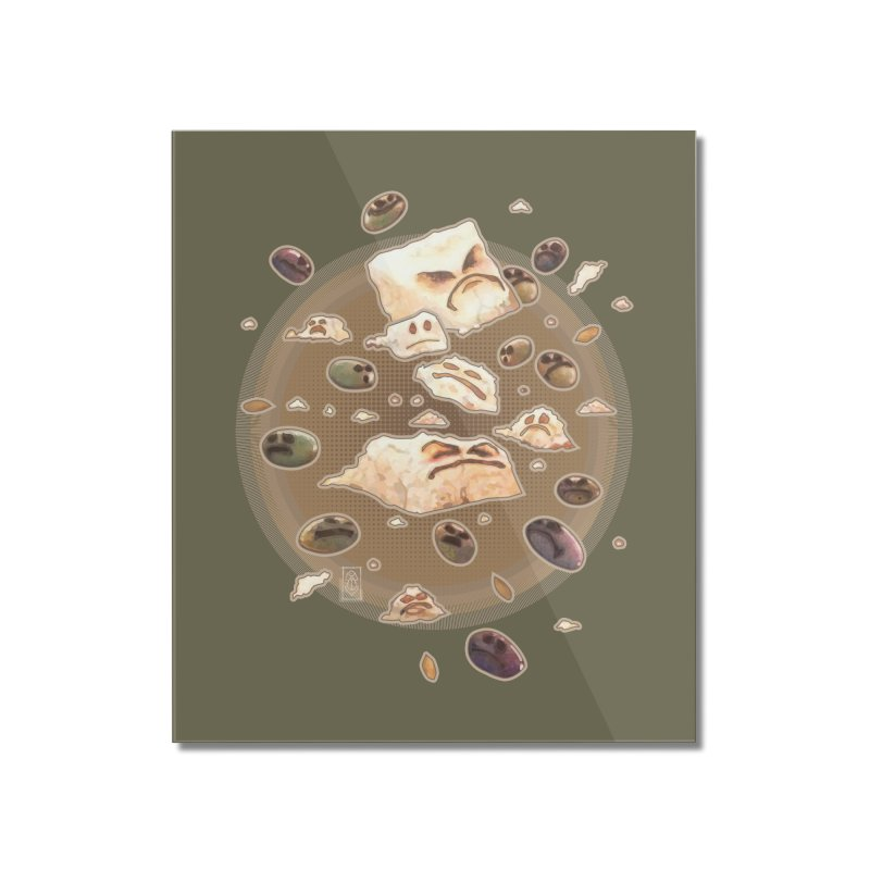 Angry Feta and Olives Home Mounted Acrylic Print by freshoteric's Artist Shop