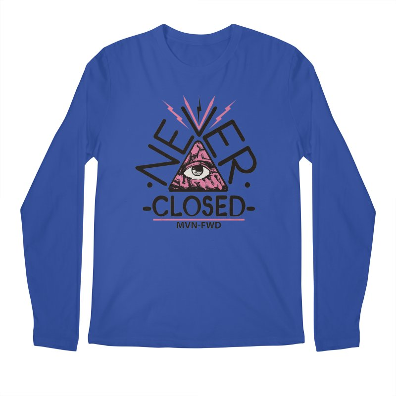 Never Closed  Men's Longsleeve T-Shirt by Frewil 's Artist Shop