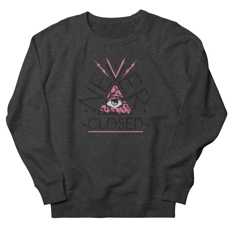 Never Closed  Men's French Terry Sweatshirt by Frewil 's Artist Shop
