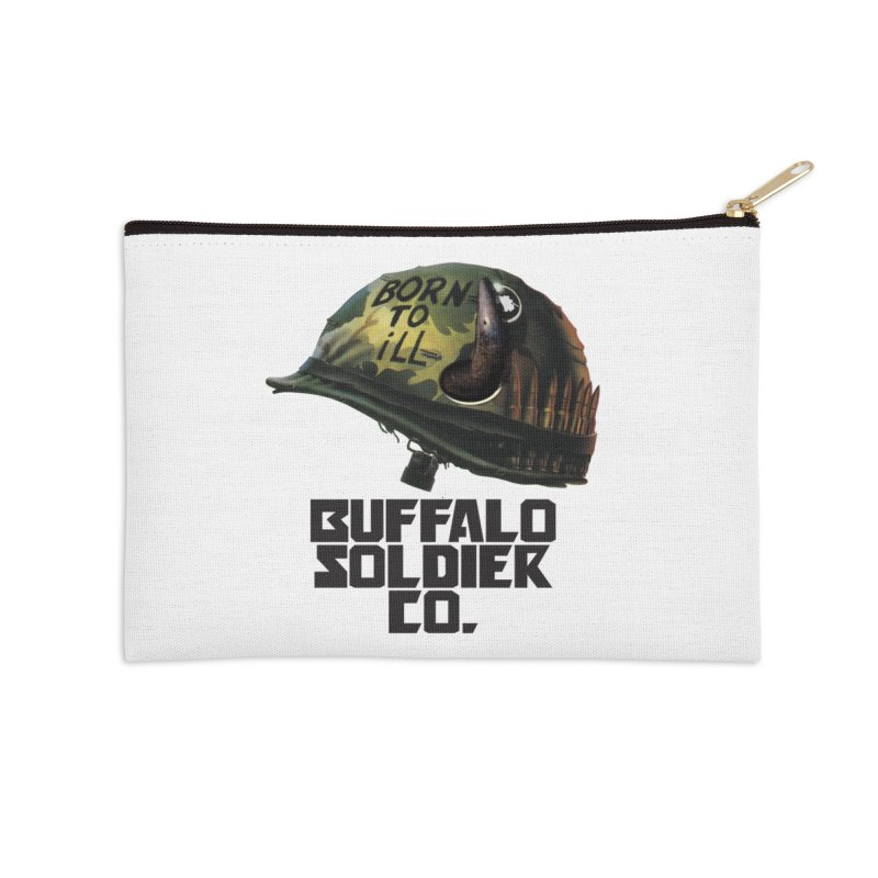 Full Metal Buffalo Accessories Zip Pouch by Frewil 's Artist Shop