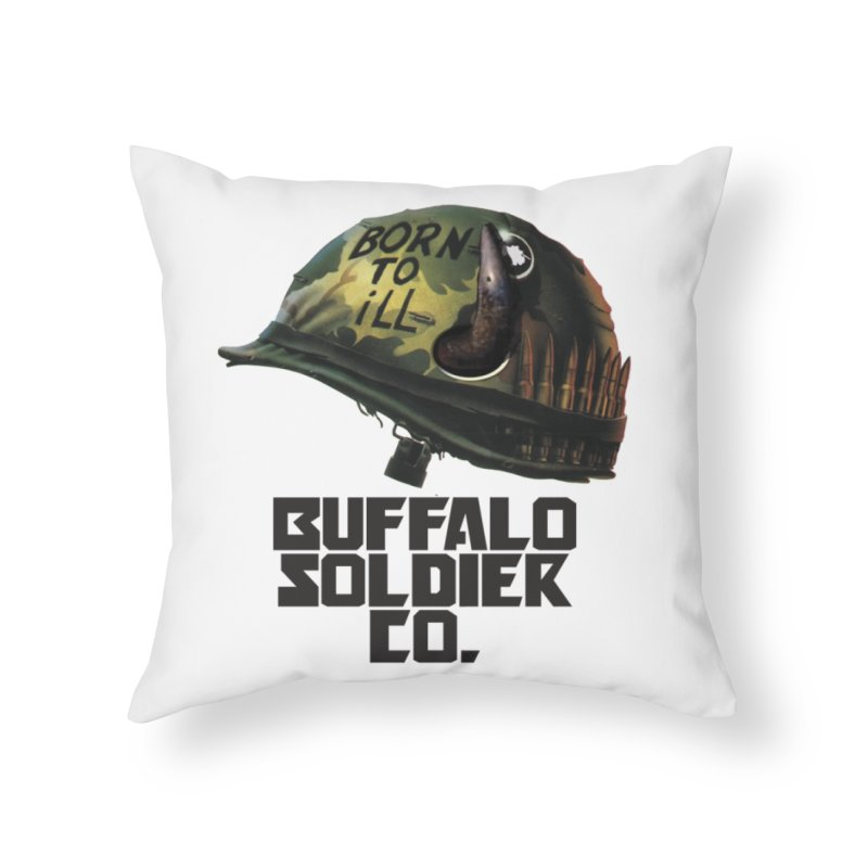 Full Metal Buffalo Home Throw Pillow by Frewil 's Artist Shop