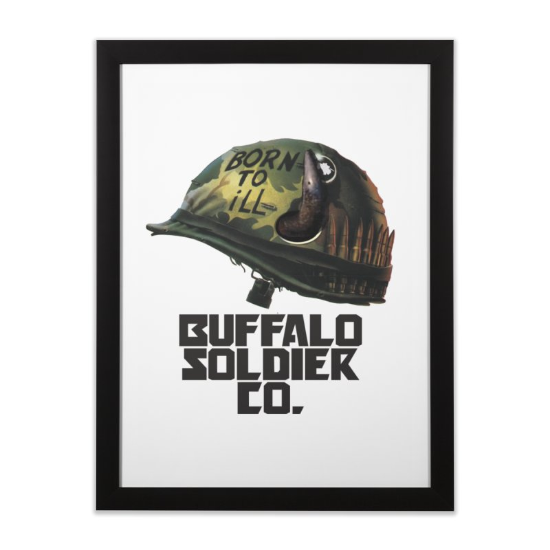 Full Metal Buffalo Home Framed Fine Art Print by Frewil 's Artist Shop