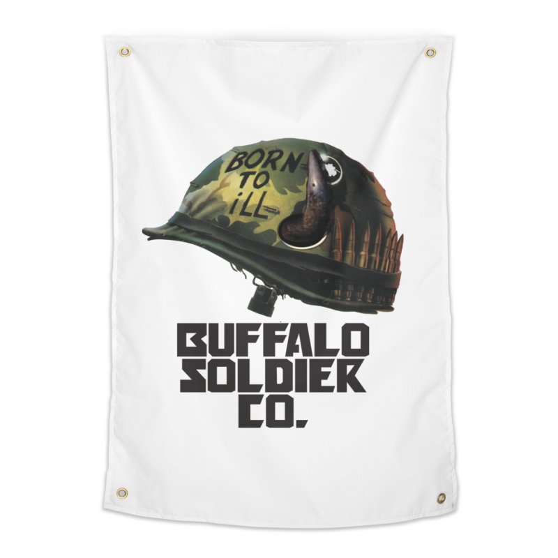 Full Metal Buffalo Home Tapestry by Frewil 's Artist Shop