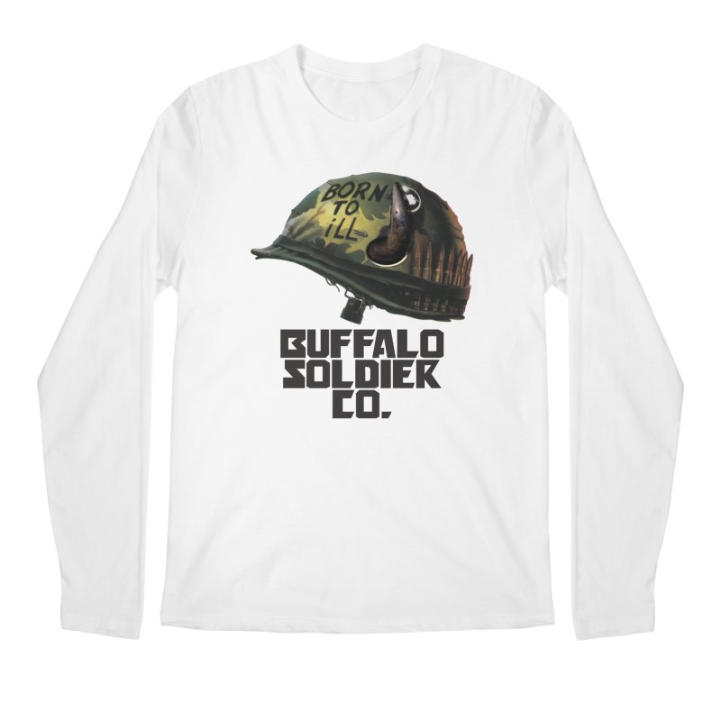 Full Metal Buffalo Men's Longsleeve T-Shirt by Frewil 's Artist Shop