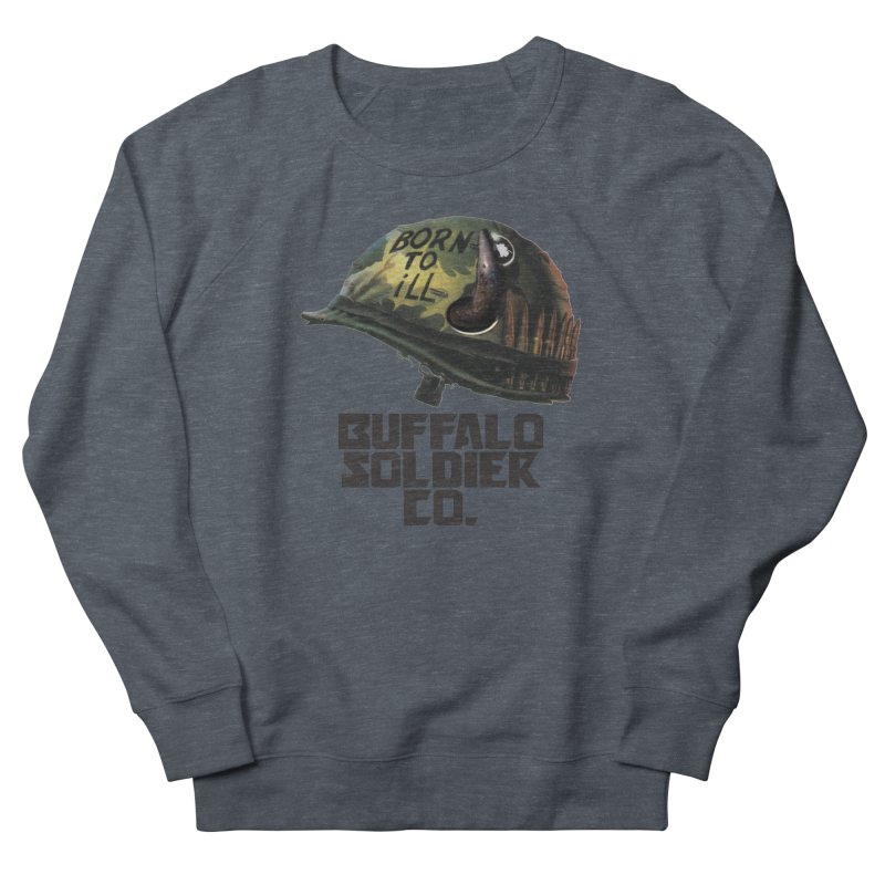 Full Metal Buffalo Women's French Terry Sweatshirt by Frewil 's Artist Shop