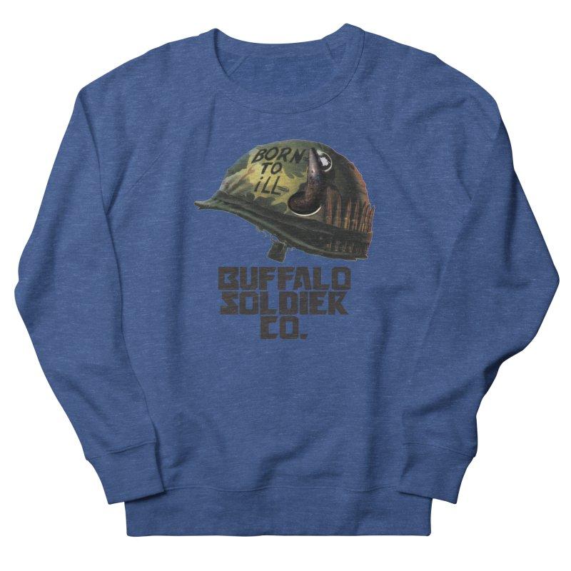 Full Metal Buffalo Men's French Terry Sweatshirt by Frewil 's Artist Shop