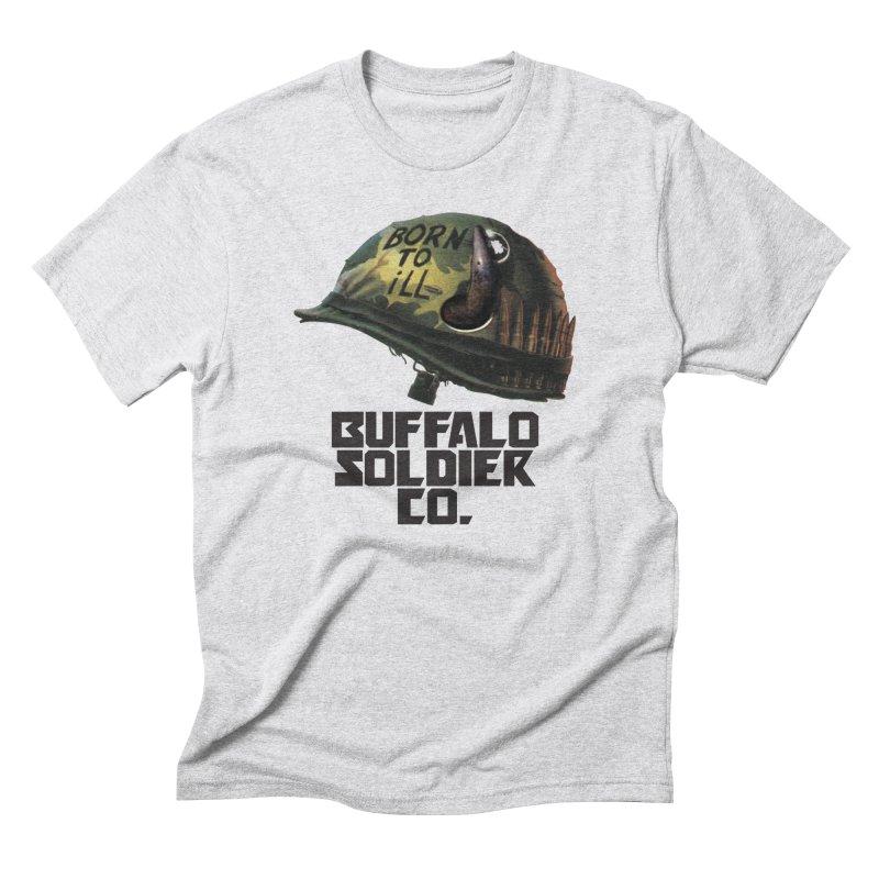 Full Metal Buffalo Men's Triblend T-Shirt by Frewil 's Artist Shop