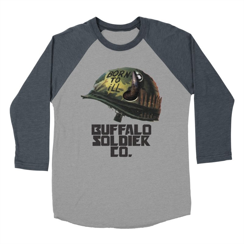 Full Metal Buffalo Women's Baseball Triblend T-Shirt by Frewil 's Artist Shop