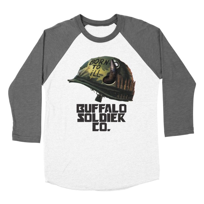 Full Metal Buffalo Men's Baseball Triblend Longsleeve T-Shirt by Frewil 's Artist Shop
