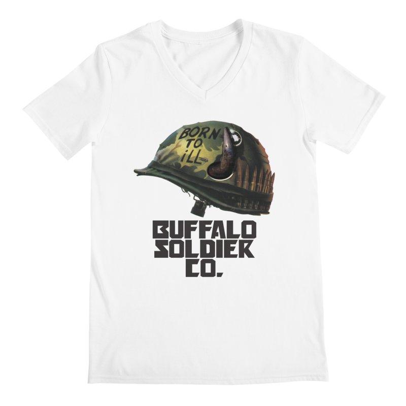 Full Metal Buffalo Men's Regular V-Neck by Frewil 's Artist Shop