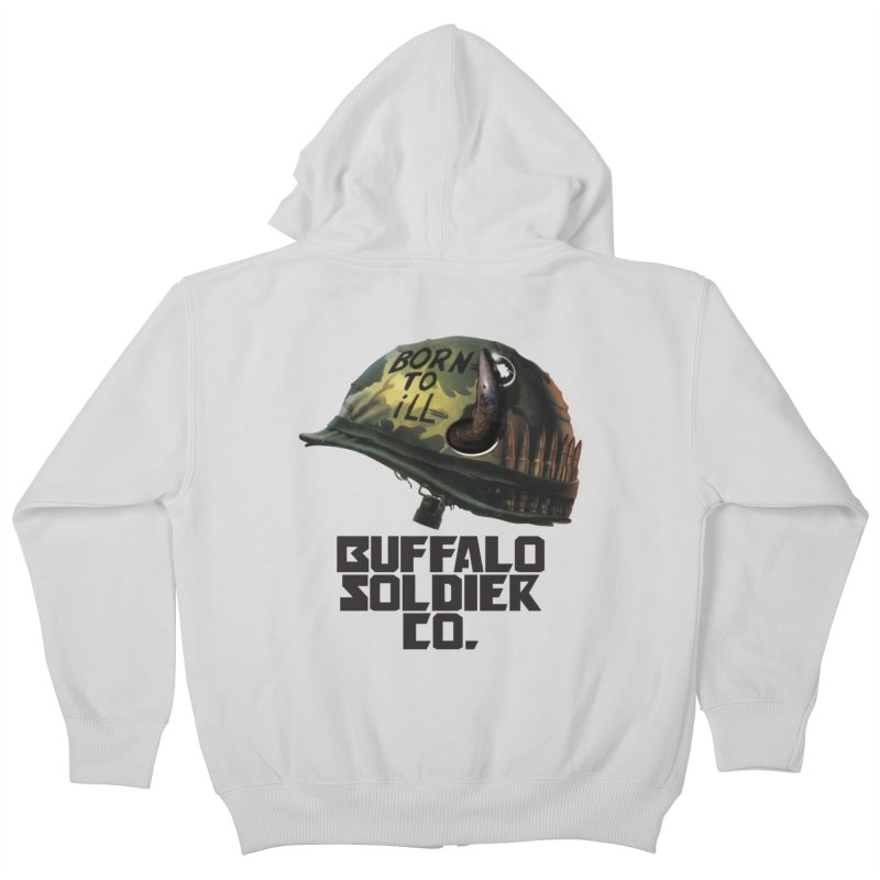 Full Metal Buffalo Kids Zip-Up Hoody by Frewil 's Artist Shop