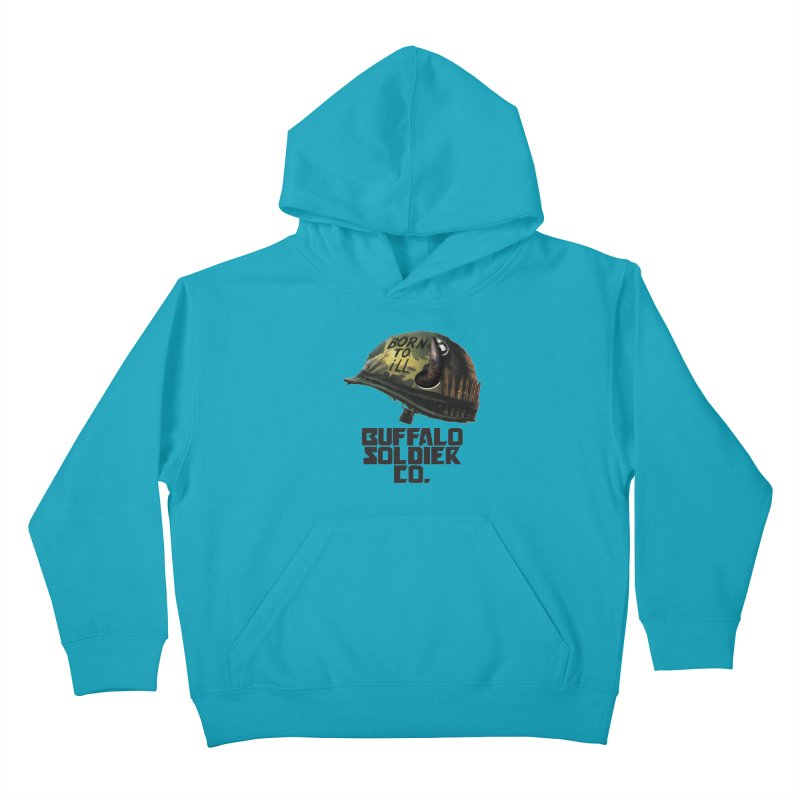 Full Metal Buffalo Kids Pullover Hoody by Frewil 's Artist Shop