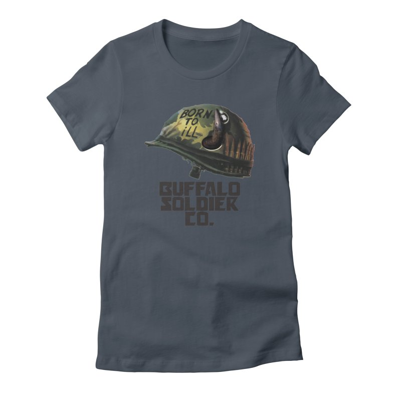 Full Metal Buffalo Women's T-Shirt by Frewil 's Artist Shop