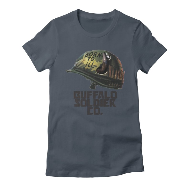 Full Metal Buffalo Women's Fitted T-Shirt by Frewil 's Artist Shop