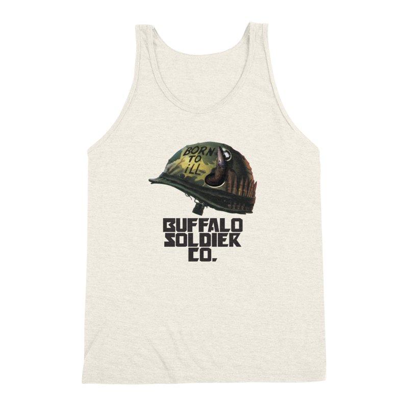 Full Metal Buffalo Men's Triblend Tank by Frewil 's Artist Shop