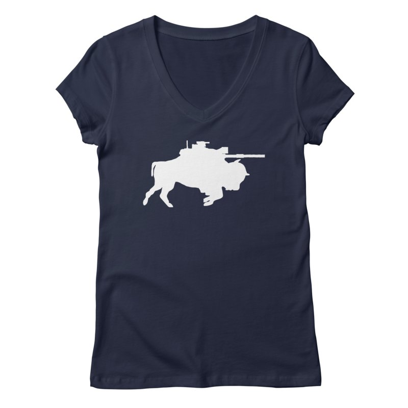 Classic Buffalo Soldier Co.  Women's V-Neck by Frewil 's Artist Shop
