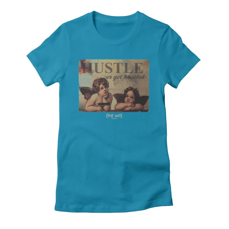 Angels & Angles Women's Fitted T-Shirt by Frewil 's Artist Shop