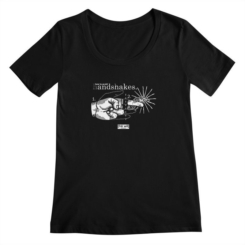 Handshakes Women's Scoopneck by Frewil 's Artist Shop