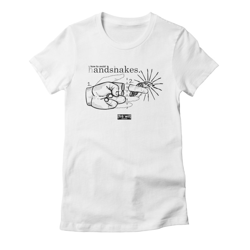 Handshakes (black) Women's Fitted T-Shirt by Frewil 's Artist Shop
