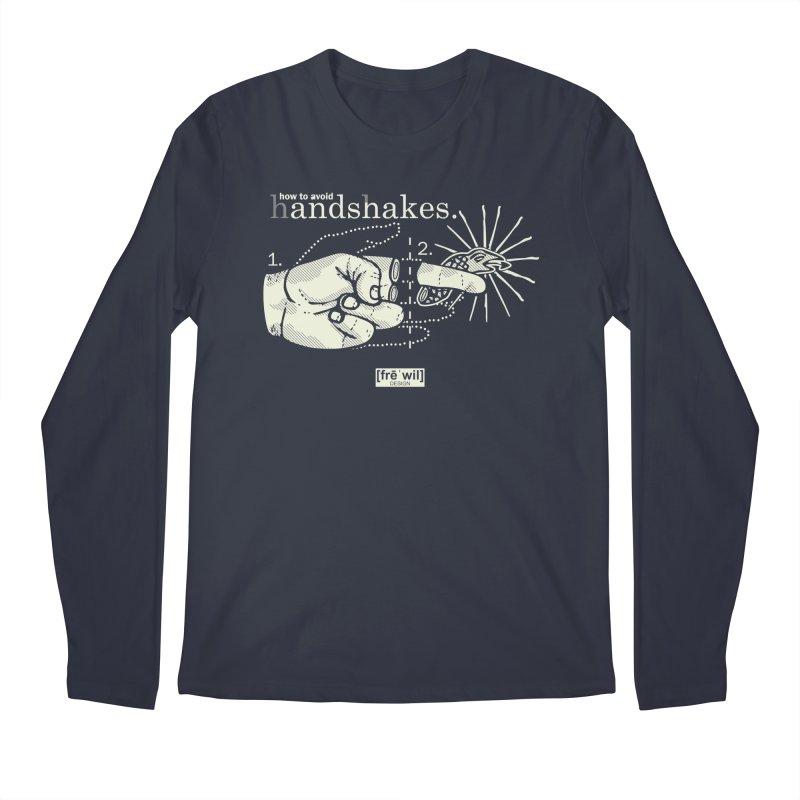 Handshakes (creme) Men's Longsleeve T-Shirt by Frewil 's Artist Shop