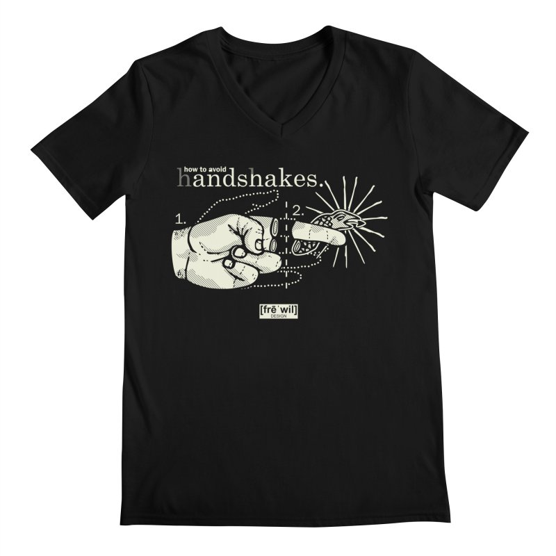 Handshakes (creme) Men's V-Neck by Frewil 's Artist Shop