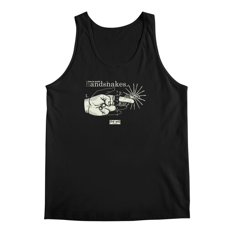 Handshakes (creme) Men's Tank by Frewil 's Artist Shop