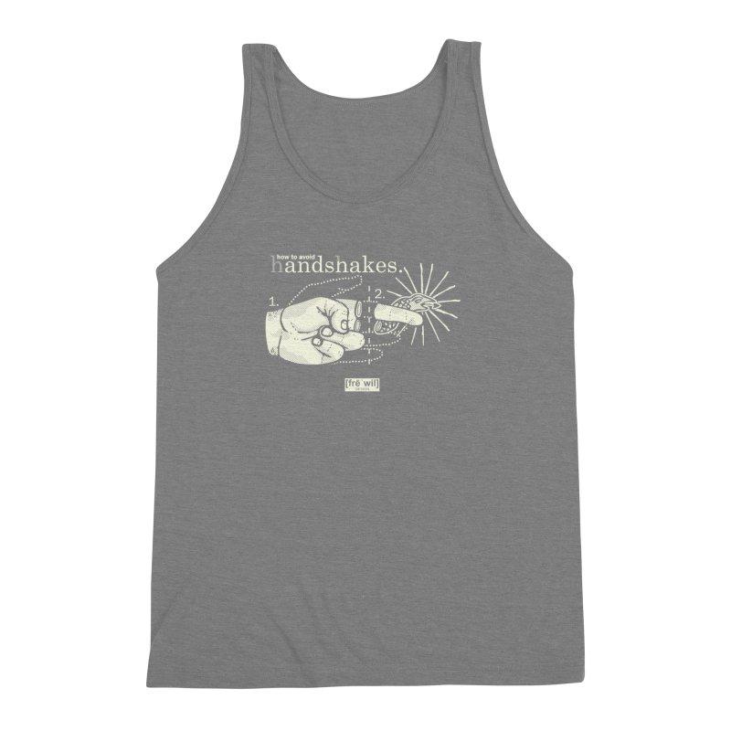 Handshakes (creme) Men's Triblend Tank by Frewil 's Artist Shop