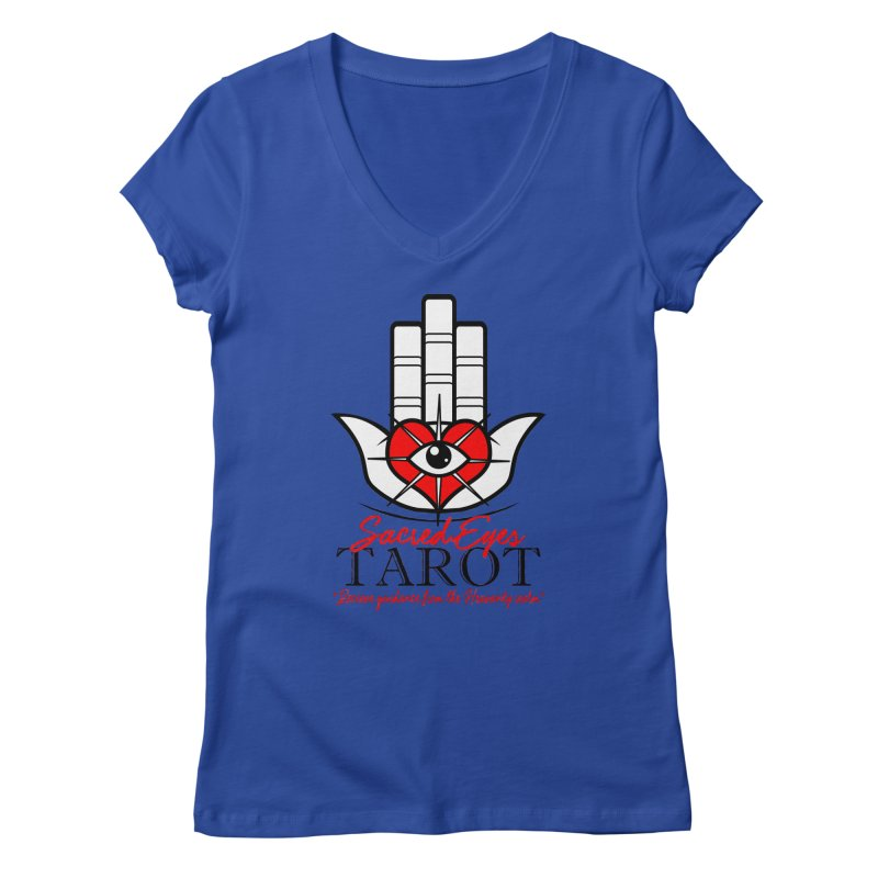 Sacred Eye Tarot (light) Women's V-Neck by Frewil 's Artist Shop