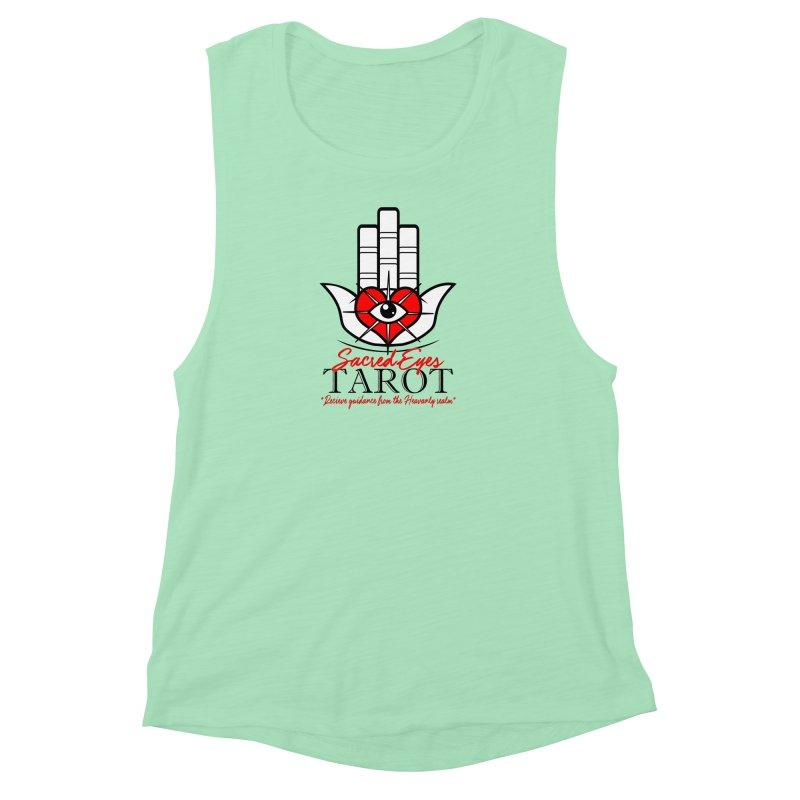Sacred Eye Tarot (light) Women's Muscle Tank by Frewil 's Artist Shop