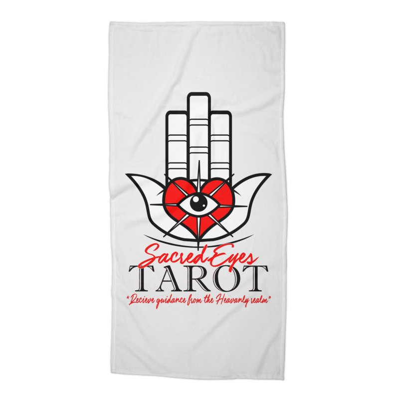 Sacred Eye Tarot (light) Accessories Beach Towel by Frewil 's Artist Shop