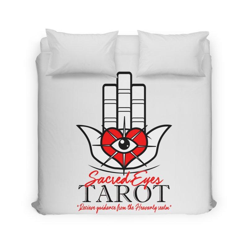 Sacred Eye Tarot (light) Home Duvet by Frewil 's Artist Shop