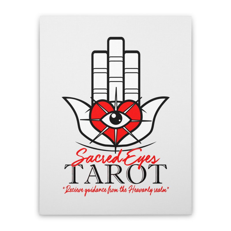 Sacred Eye Tarot (light) Home Stretched Canvas by Frewil 's Artist Shop