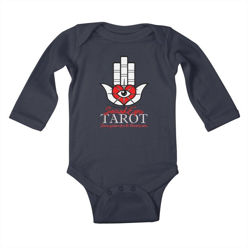 Sacred Eyes Tarot (dark) Kids Baby Longsleeve Bodysuit by Frewil 's Artist Shop