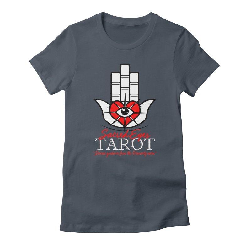 Sacred Eyes Tarot (dark) Women's Fitted T-Shirt by Frewil 's Artist Shop