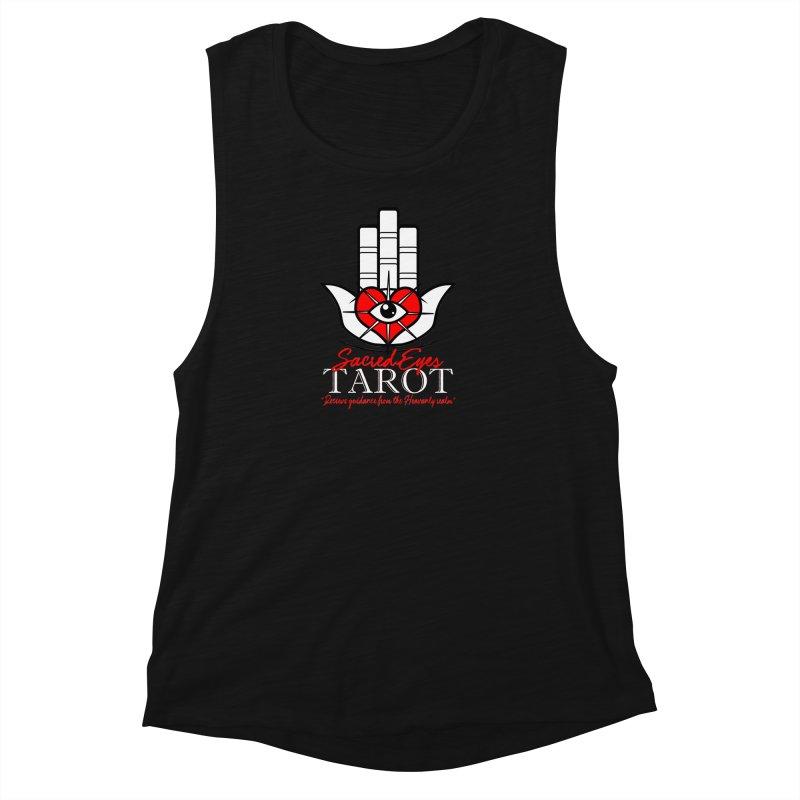 Sacred Eyes Tarot (dark) Women's Muscle Tank by Frewil 's Artist Shop