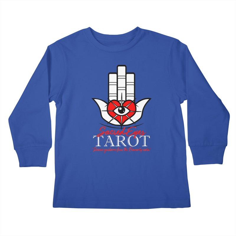 Sacred Eyes Tarot (dark) Kids Longsleeve T-Shirt by Frewil 's Artist Shop