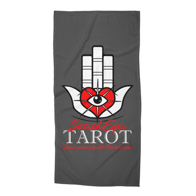 Sacred Eyes Tarot (dark) Accessories Beach Towel by Frewil 's Artist Shop