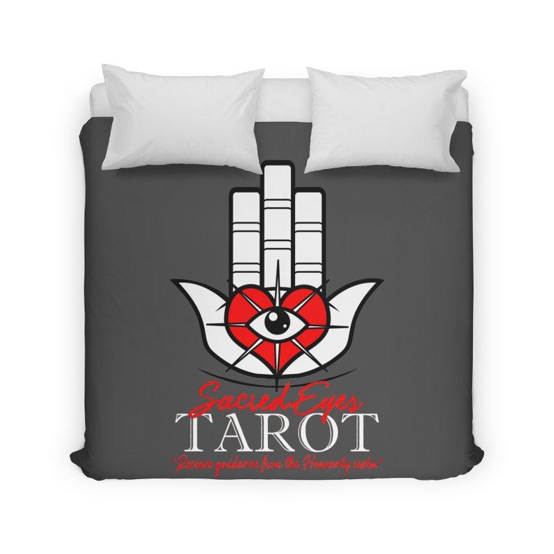 Sacred Eyes Tarot (dark) Home Duvet by Frewil 's Artist Shop
