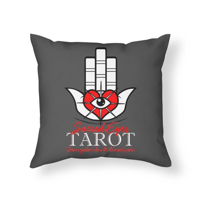 Sacred Eyes Tarot (dark) Home Throw Pillow by Frewil 's Artist Shop