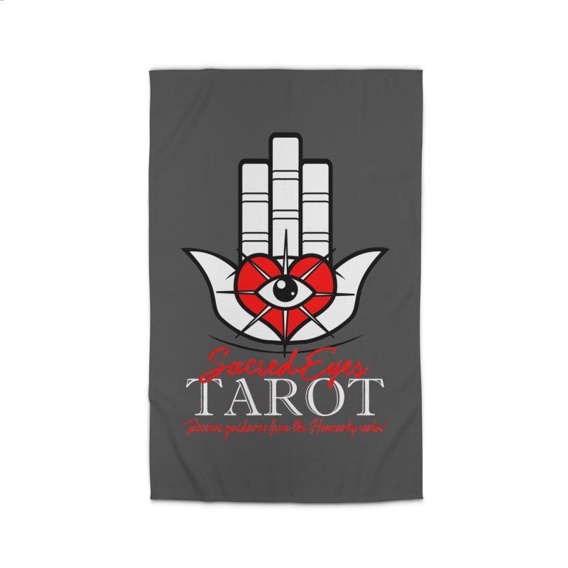 Sacred Eyes Tarot (dark) Home Rug by Frewil 's Artist Shop