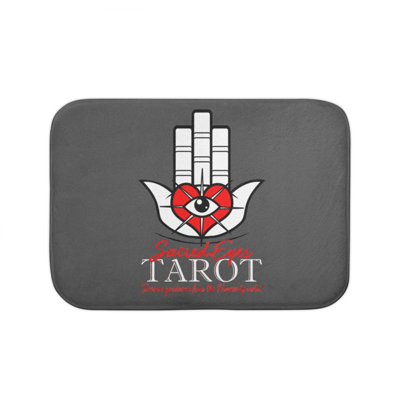 Sacred Eyes Tarot (dark) Home Bath Mat by Frewil 's Artist Shop