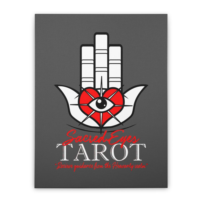 Sacred Eyes Tarot (dark) Home Stretched Canvas by Frewil 's Artist Shop