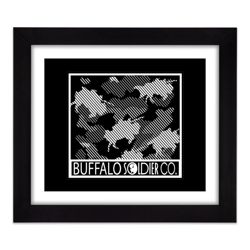Buffalo Camo Home Framed Fine Art Print by Frewil 's Artist Shop
