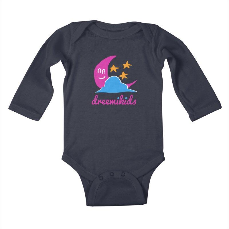 dreemikids Kids Baby Longsleeve Bodysuit by frikkinmunki's Artist Shop