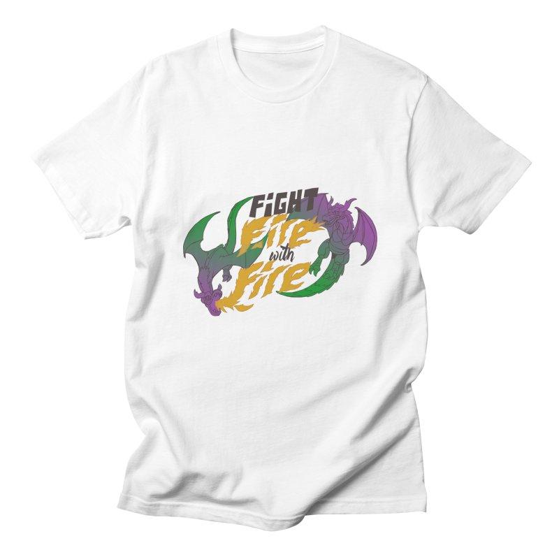 fight fire with fire Men's T-shirt by frikkinmunki's Artist Shop